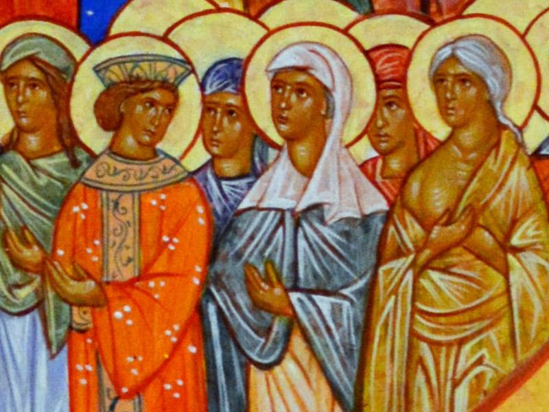 All Saints Icon (detail)