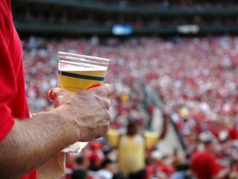 Beer at Football Game