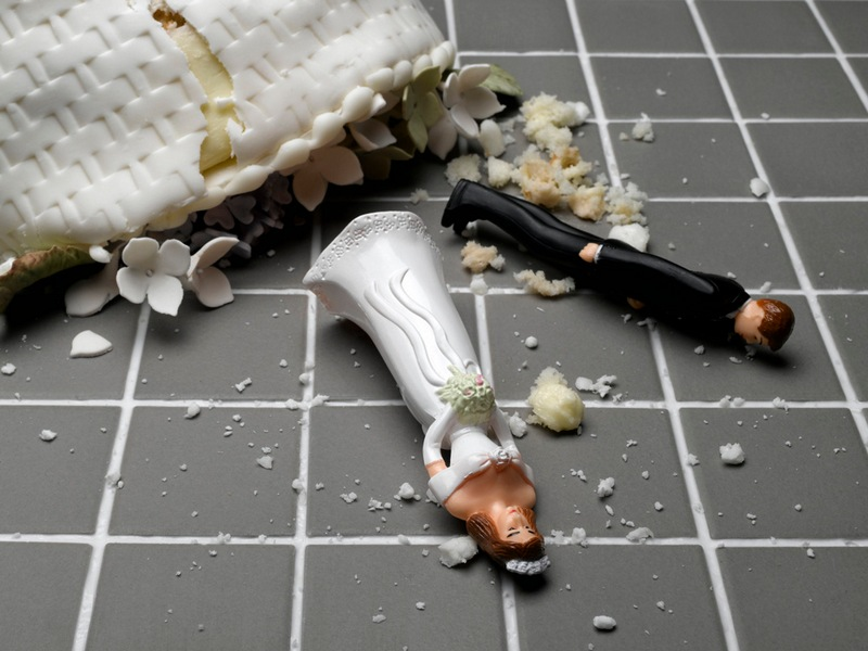 Destroyed Wedding Cake