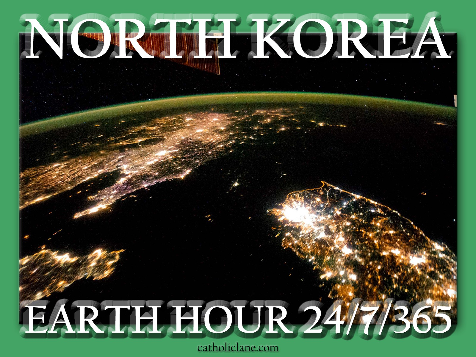 The Koreas at Night, 30 January 2014