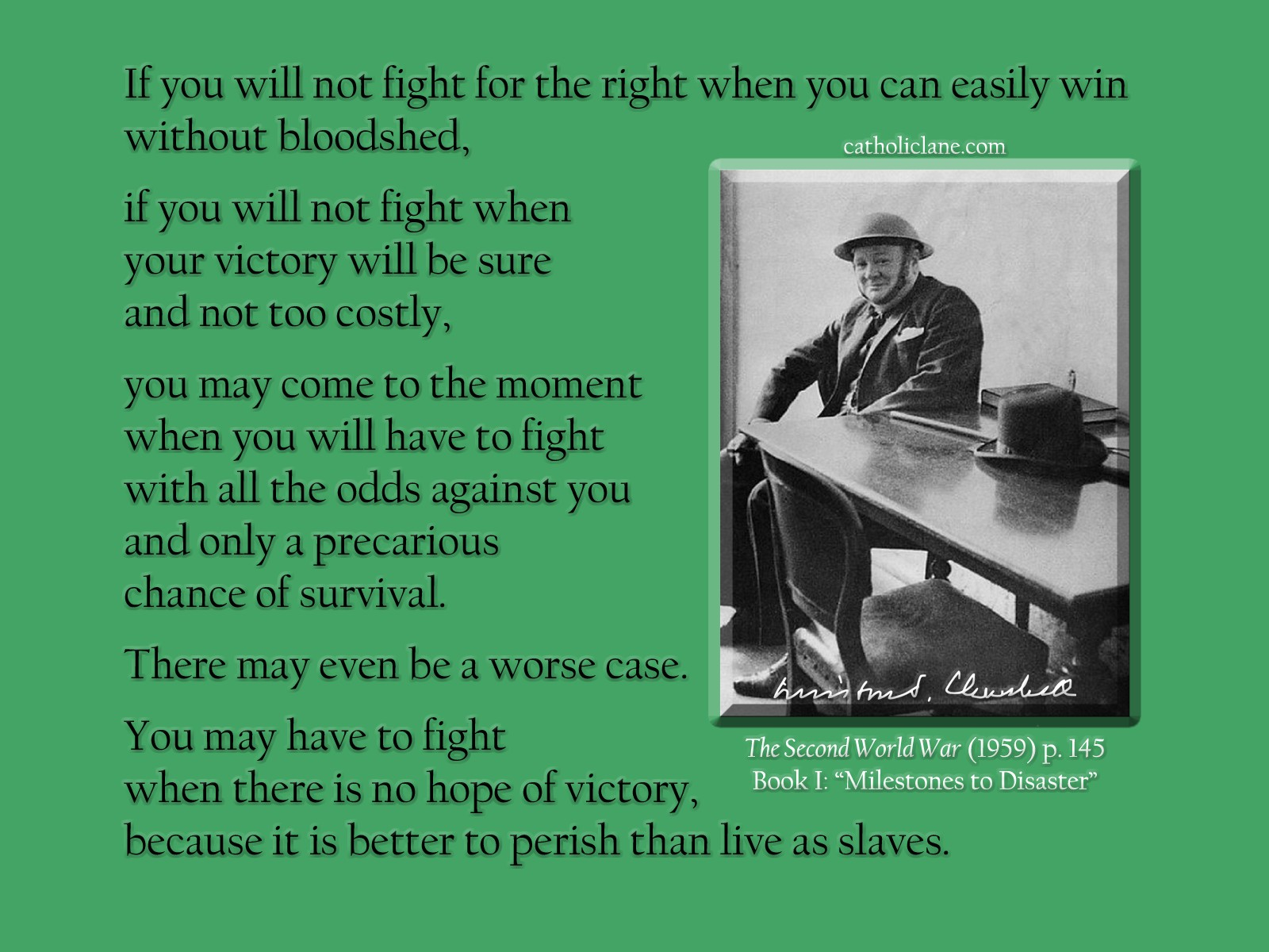 Fight for the Right - Churchill