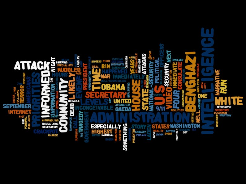 Intelligence and National Security Priorities Wordle