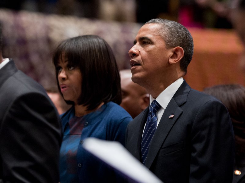 Obamas in Church - Sunday, January 20, 2013