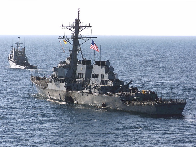 USS Cole, Towed October 29, 2000.